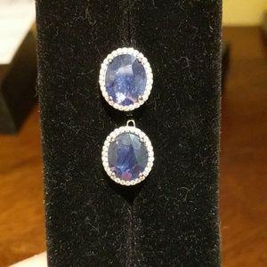 unknown Jewelry - 925 Sapphire earrings